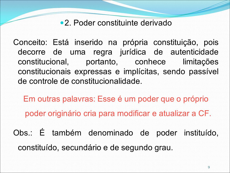 2. Poder constituinte derivado