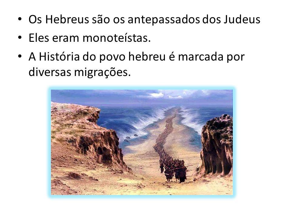 Os Hebreus são os antepassados dos Judeus