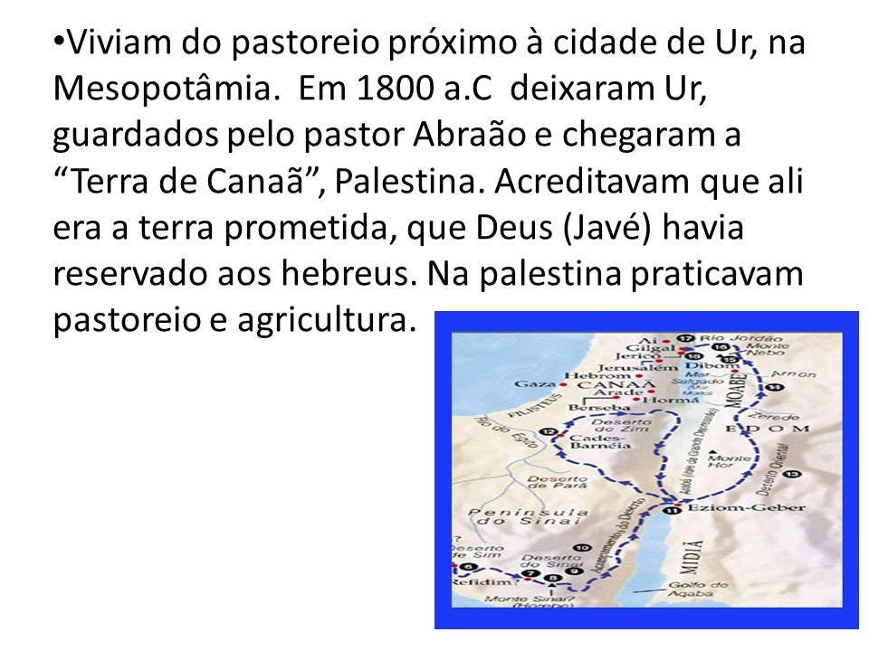 Viviam do pastoreio próximo à cidade de Ur, na Mesopotâmia. Em 1800 a