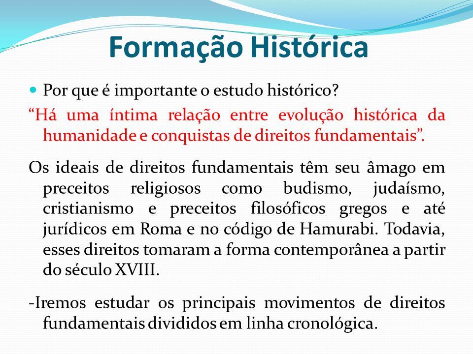 Formação Histórica Por que é importante o estudo histórico