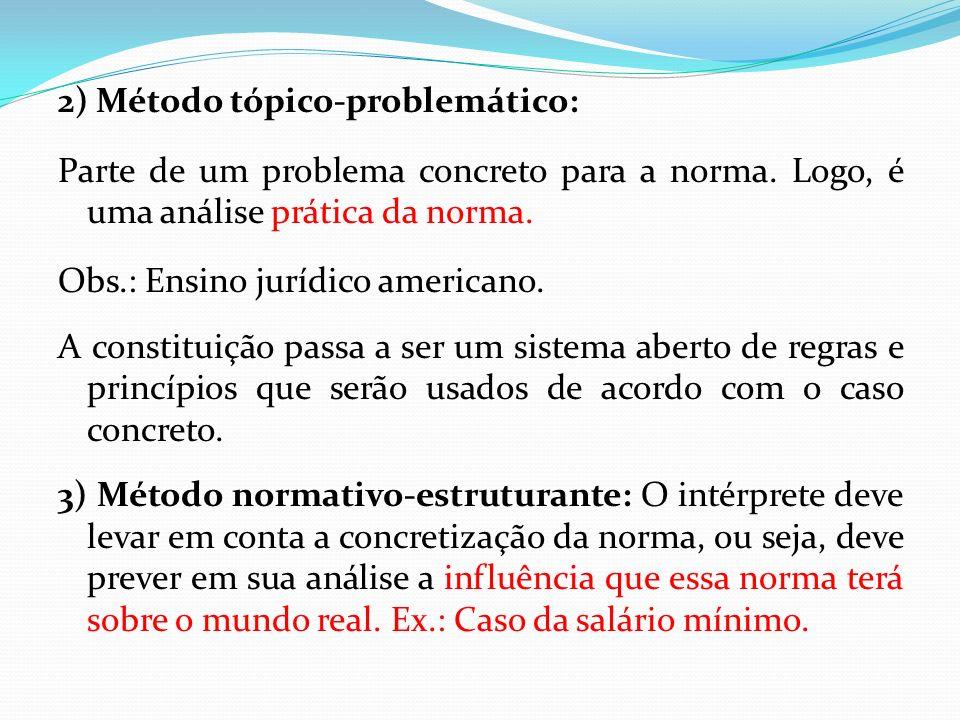 2) Método tópico-problemático: