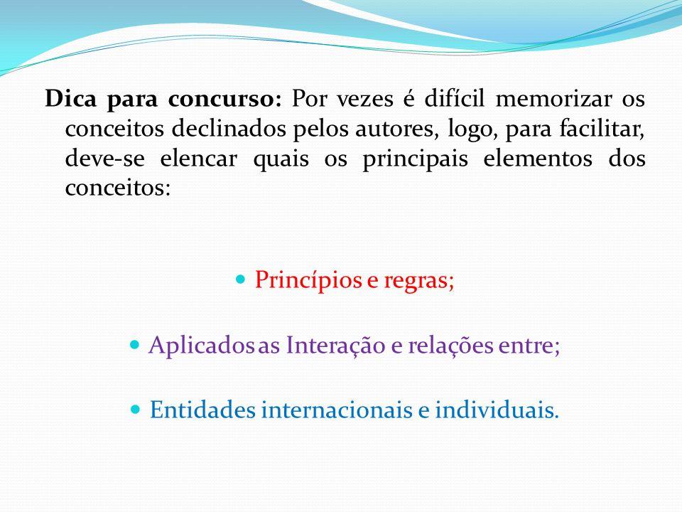Aplicados as Interação e relações entre;