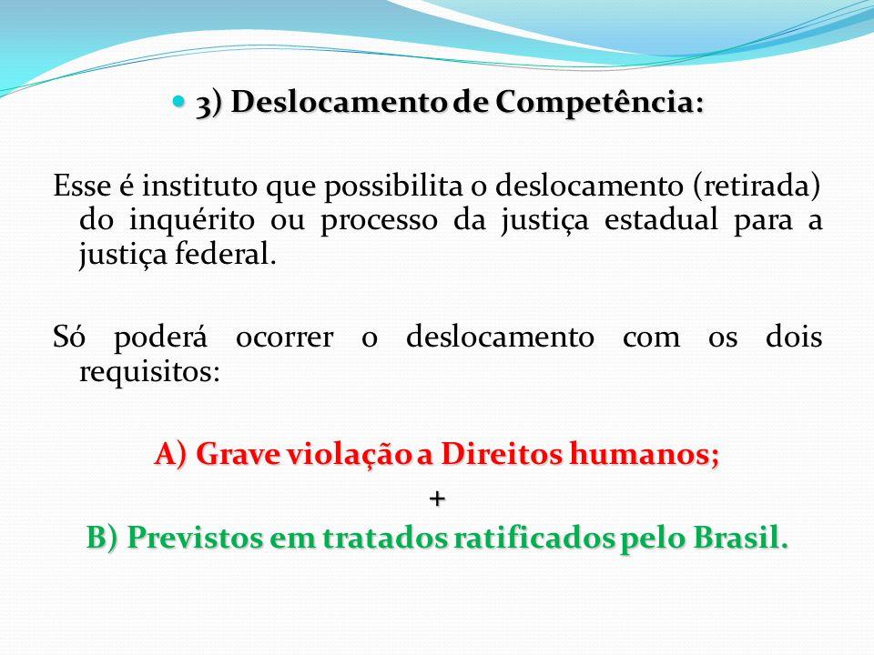 3) Deslocamento de Competência: