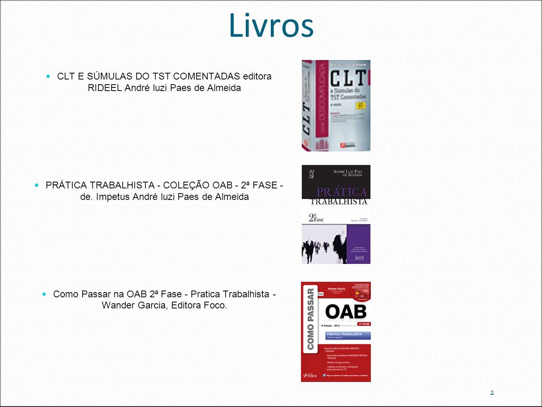 Livros CLT E SÚMULAS DO TST COMENTADAS editora RIDEEL André luzi Paes de Almeida.
