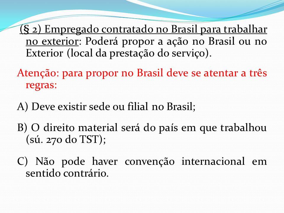 Atenção: para propor no Brasil deve se atentar a três regras: