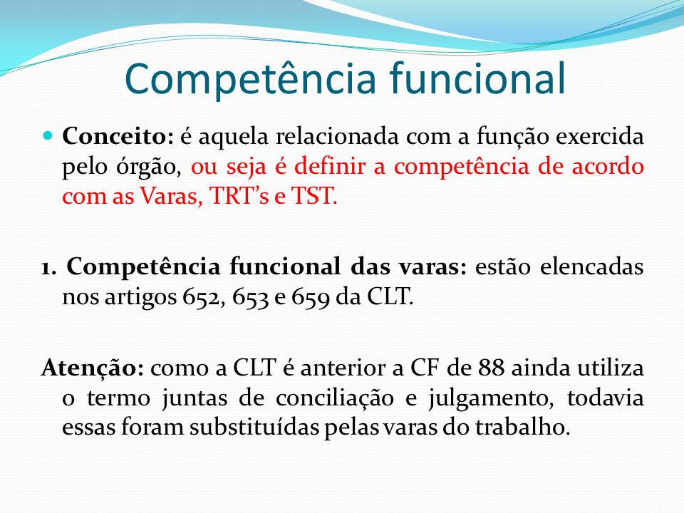 Competência funcional