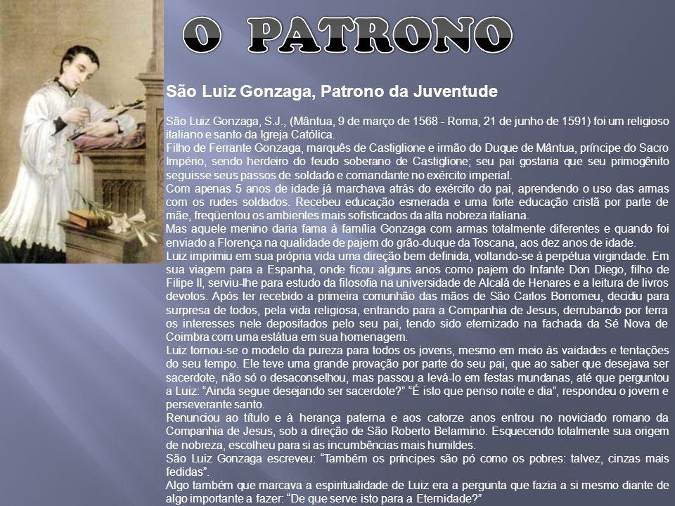 São Luiz Gonzaga, Patrono da Juventude