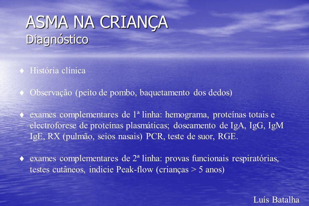 ASMA NA CRIANÇA Diagnóstico