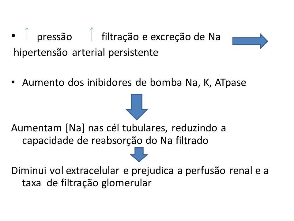 pressão filtração e excreção de Na