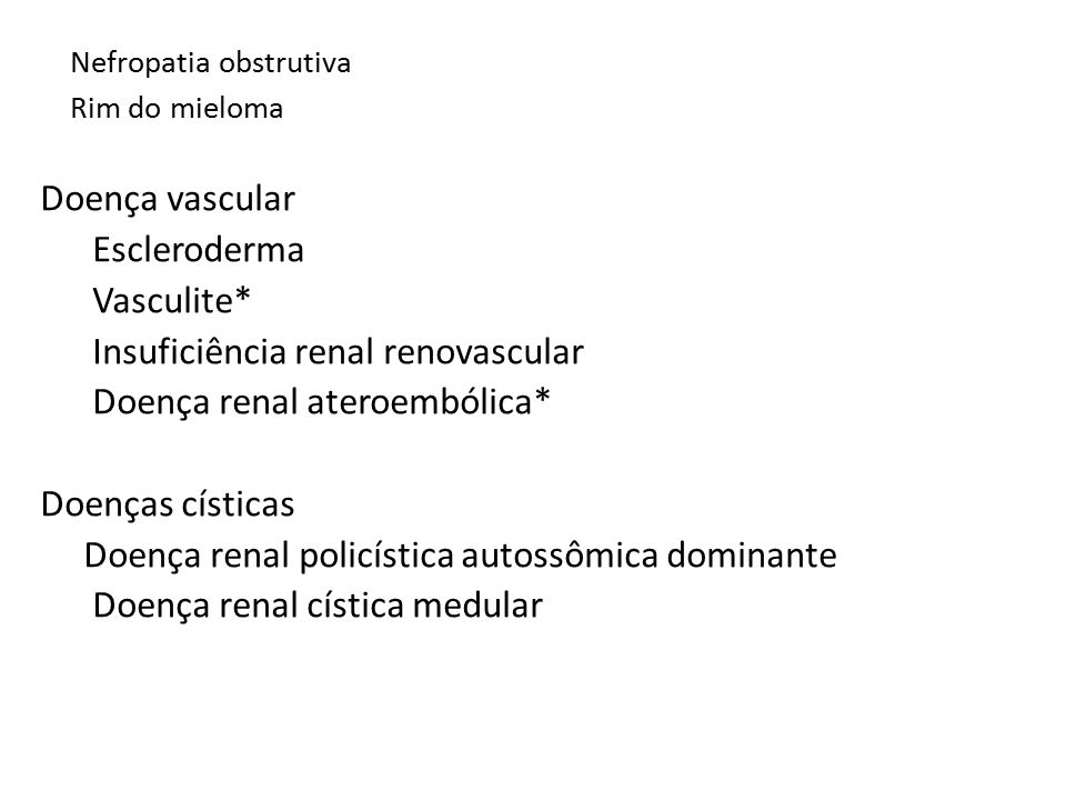 Nefropatia obstrutiva