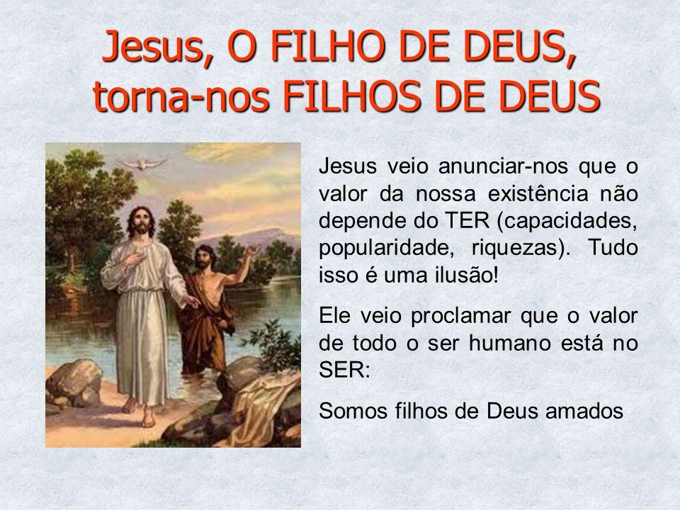 Jesus, O FILHO DE DEUS, torna-nos FILHOS DE DEUS