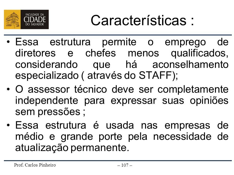 Características :