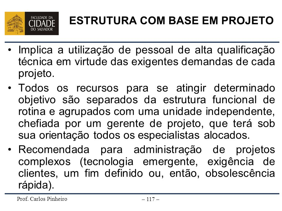 ESTRUTURA COM BASE EM PROJETO