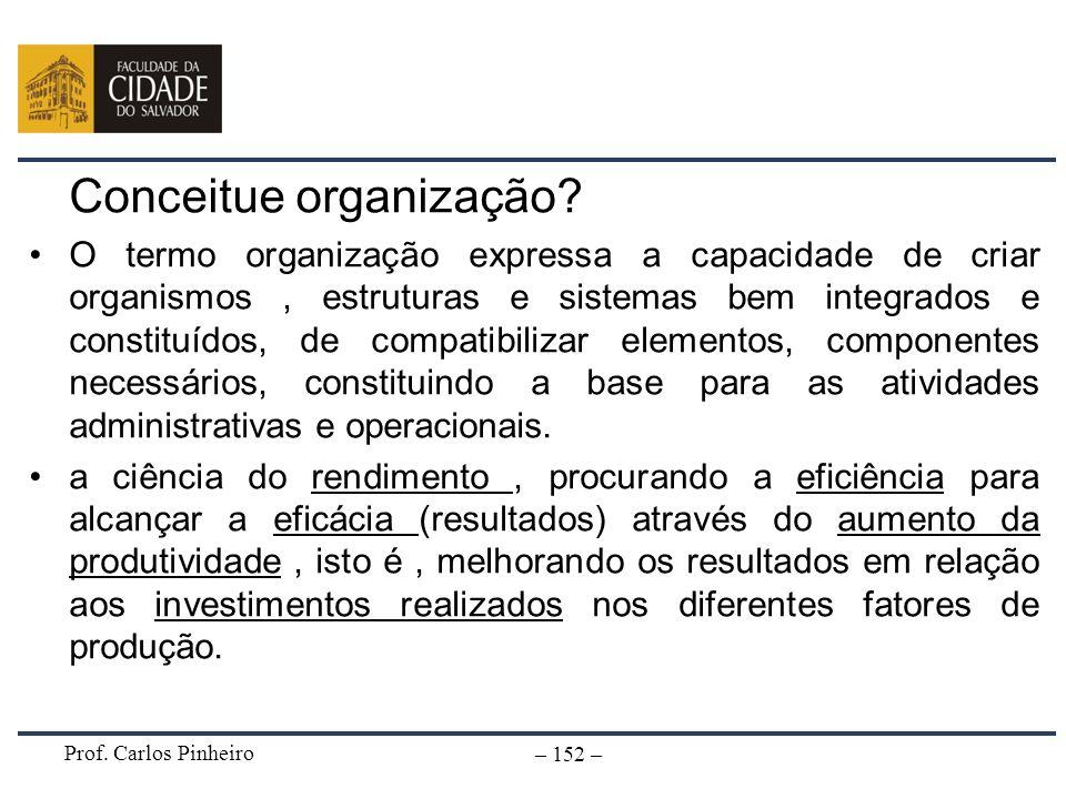 Conceitue organização