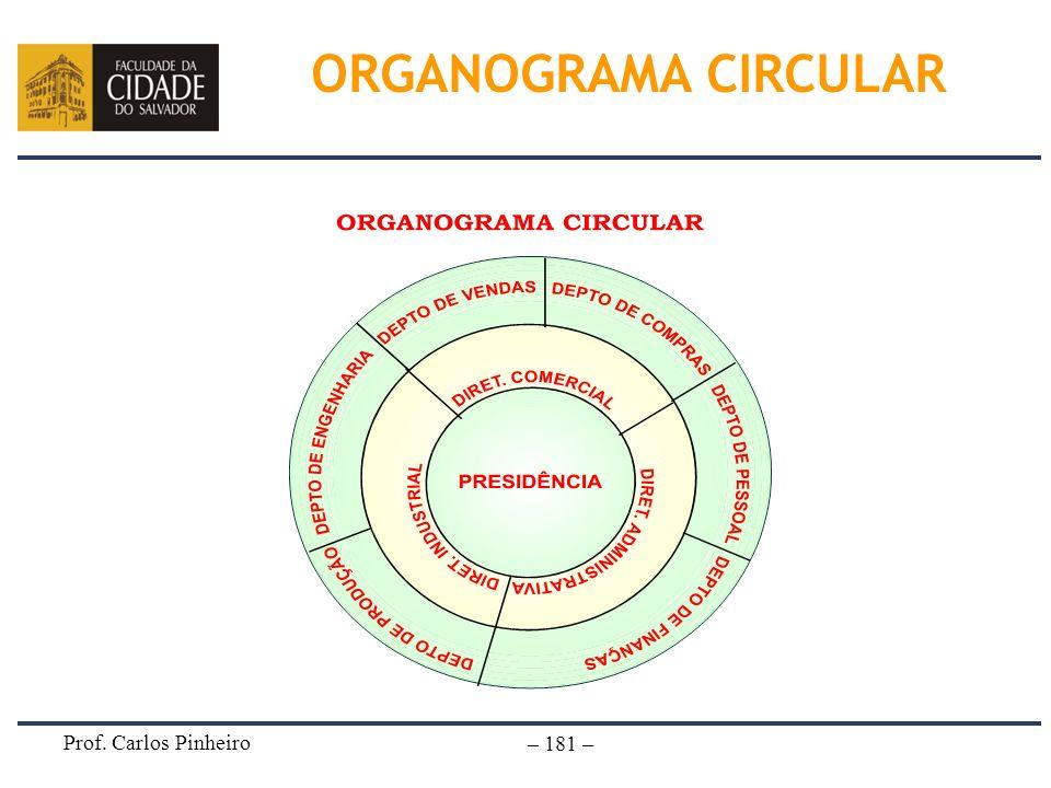 ORGANOGRAMA CIRCULAR Prof. Carlos Pinheiro