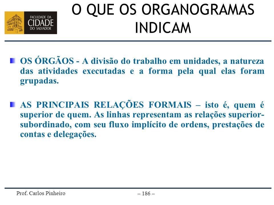 O QUE OS ORGANOGRAMAS INDICAM