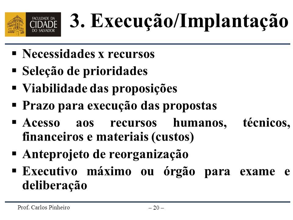 3. Execução/Implantação
