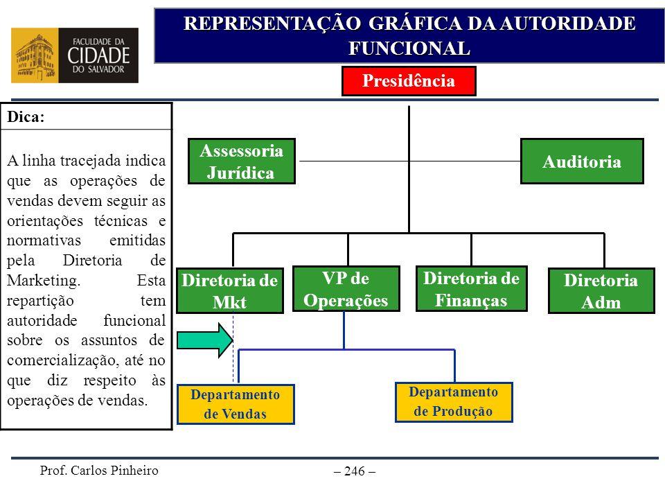 REPRESENTAÇÃO GRÁFICA DA AUTORIDADE FUNCIONAL