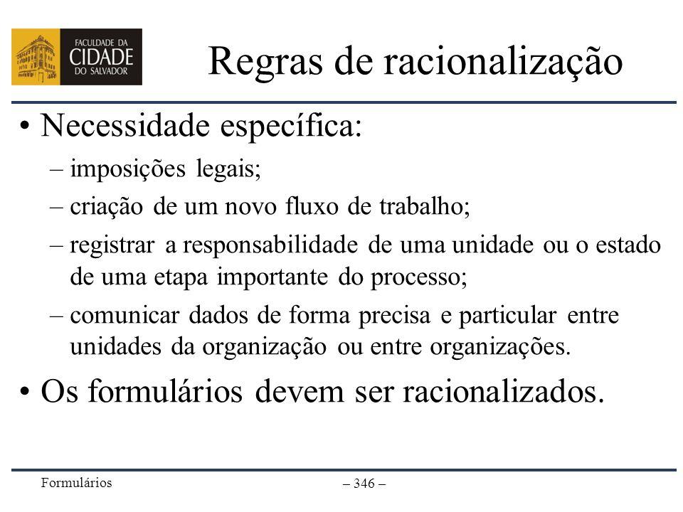 Regras de racionalização