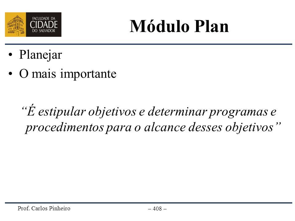 Módulo Plan Planejar O mais importante