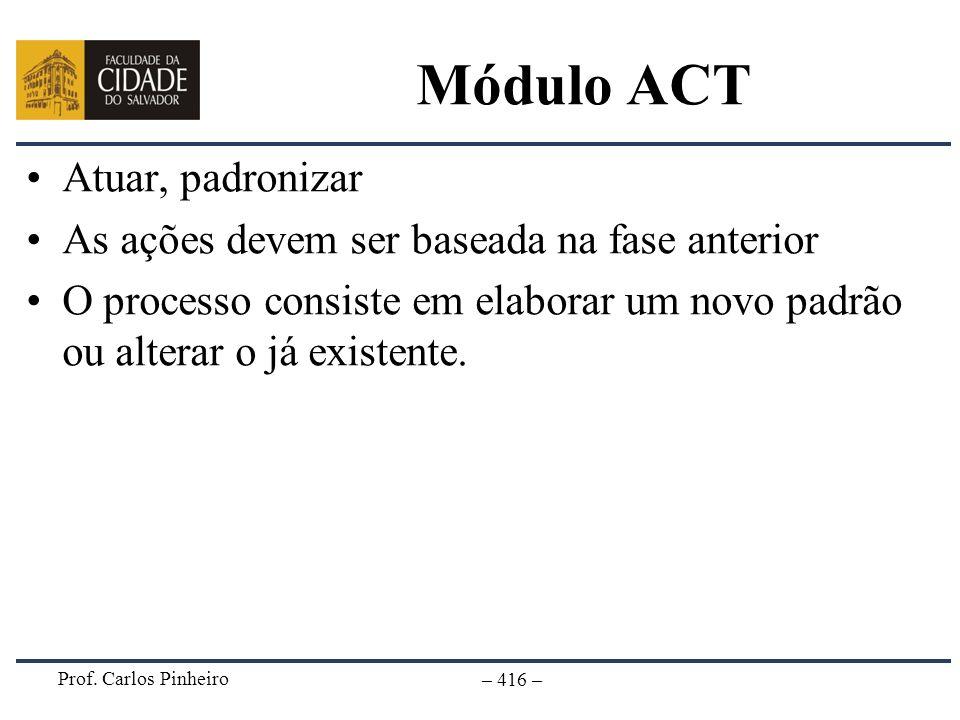 Módulo ACT Atuar, padronizar