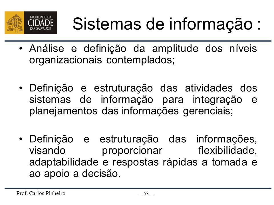 Sistemas de informação :