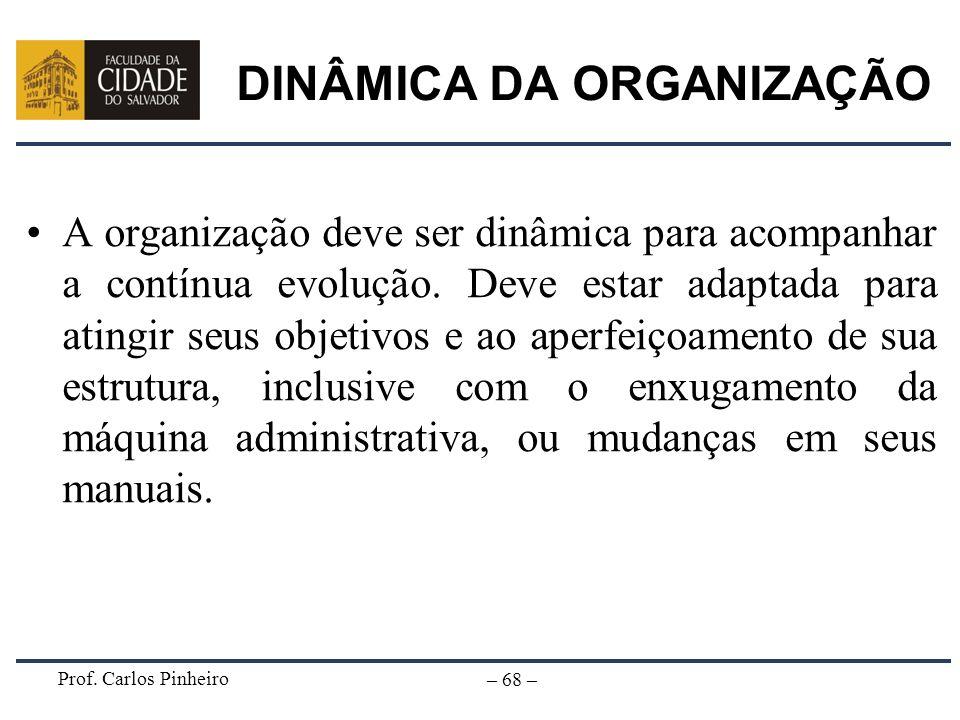 DINÂMICA DA ORGANIZAÇÃO