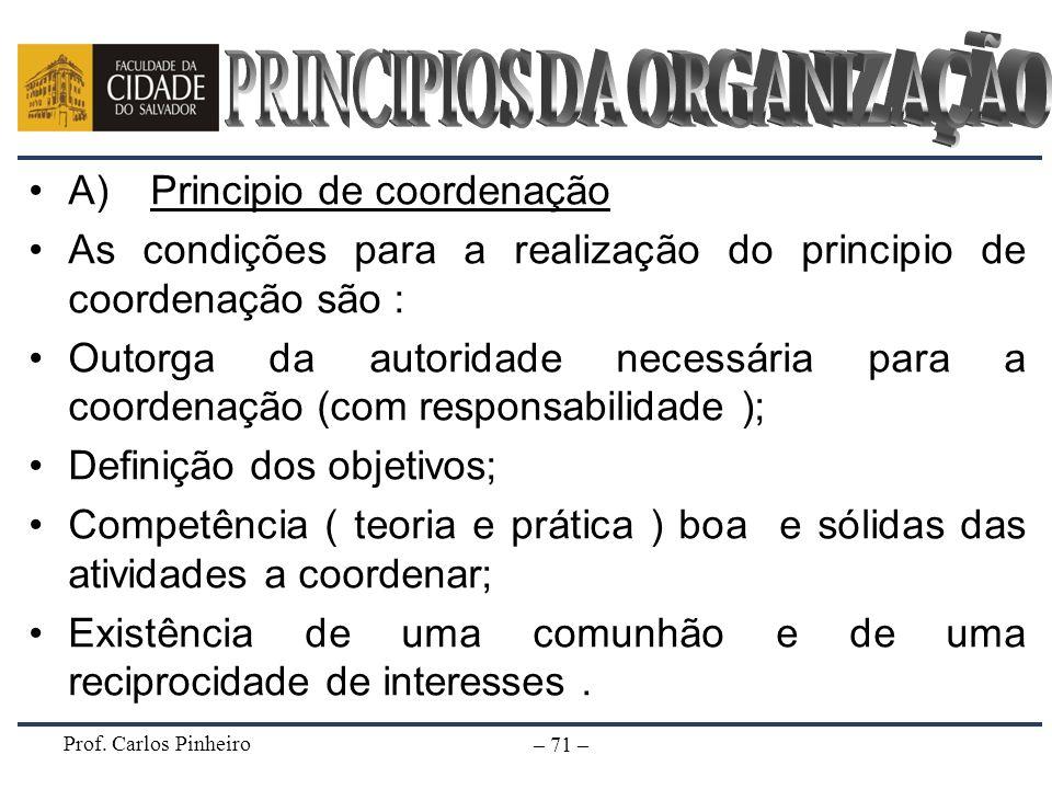 PRINCIPIOS DA ORGANIZAÇÃO