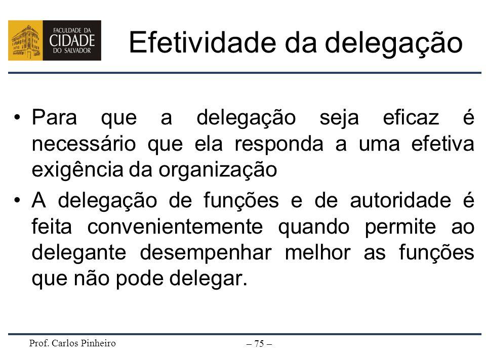 Efetividade da delegação