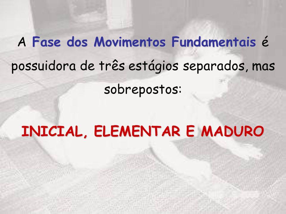 A Fase dos Movimentos Fundamentais é possuidora de três estágios separados, mas sobrepostos: INICIAL, ELEMENTAR E MADURO