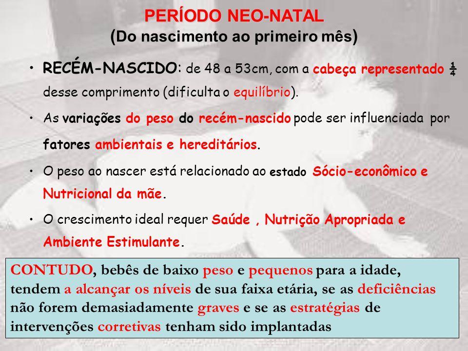PERÍODO NEO-NATAL (Do nascimento ao primeiro mês)