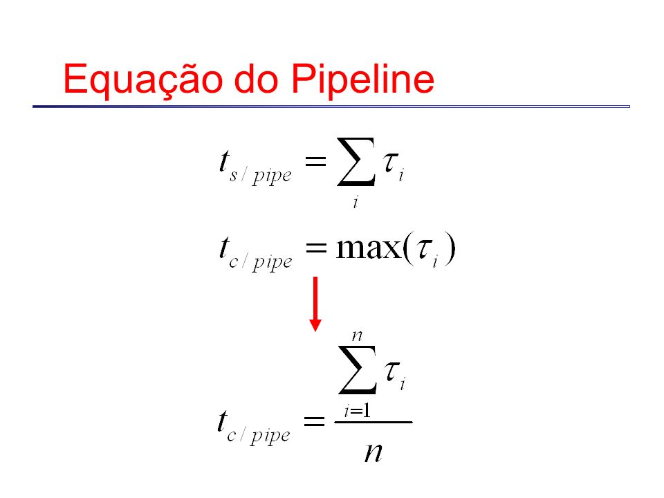 Equação do Pipeline