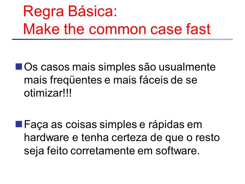 Regra Básica: Make the common case fast