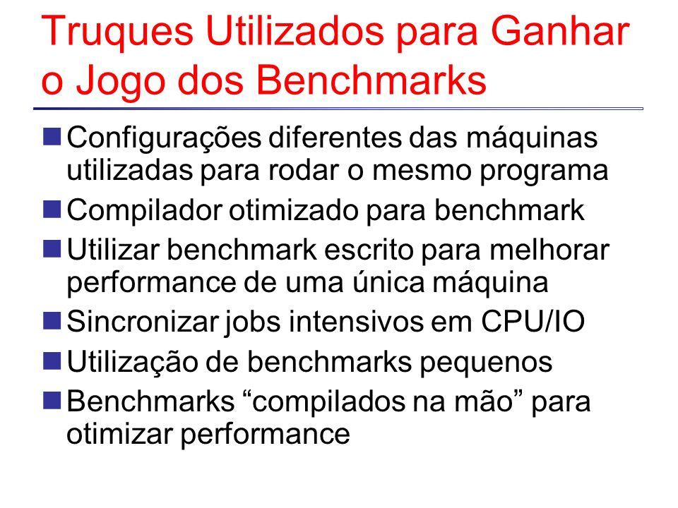 Truques Utilizados para Ganhar o Jogo dos Benchmarks