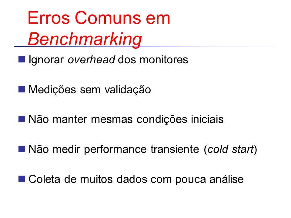Erros Comuns em Benchmarking