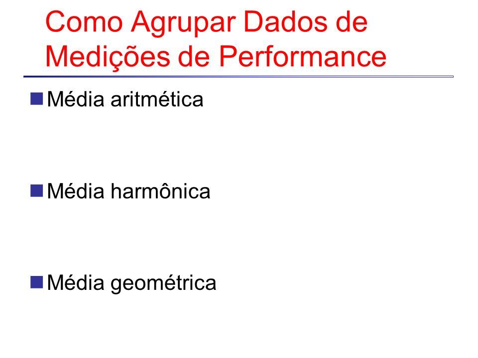 Como Agrupar Dados de Medições de Performance