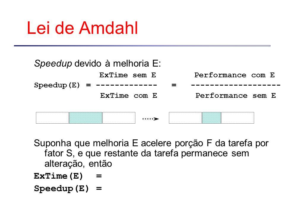 Lei de Amdahl Speedup devido à melhoria E: