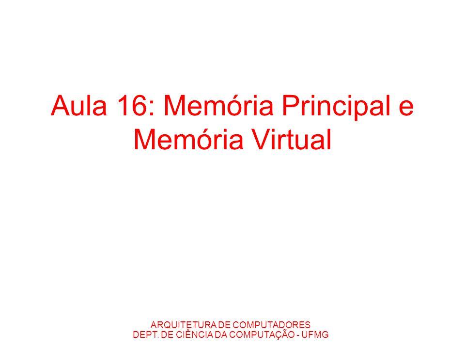 Aula 16: Memória Principal e Memória Virtual