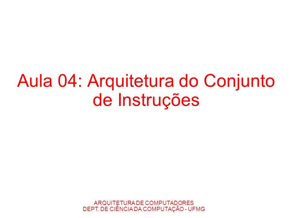 Aula 04: Arquitetura do Conjunto de Instruções