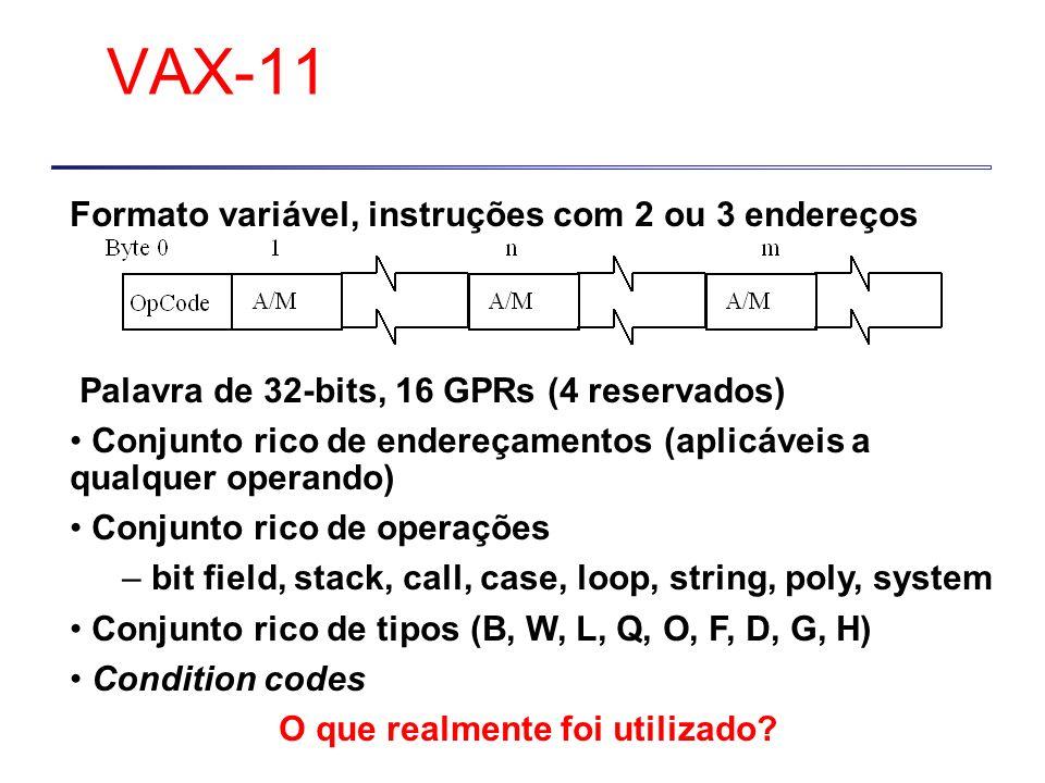 VAX-11 Formato variável, instruções com 2 ou 3 endereços