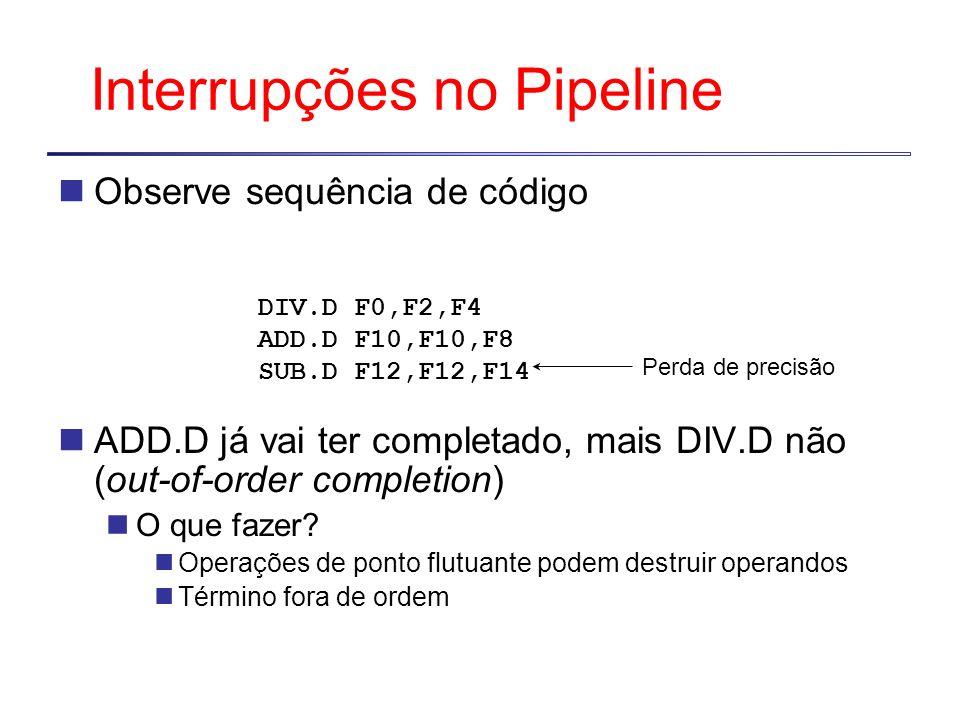 Interrupções no Pipeline