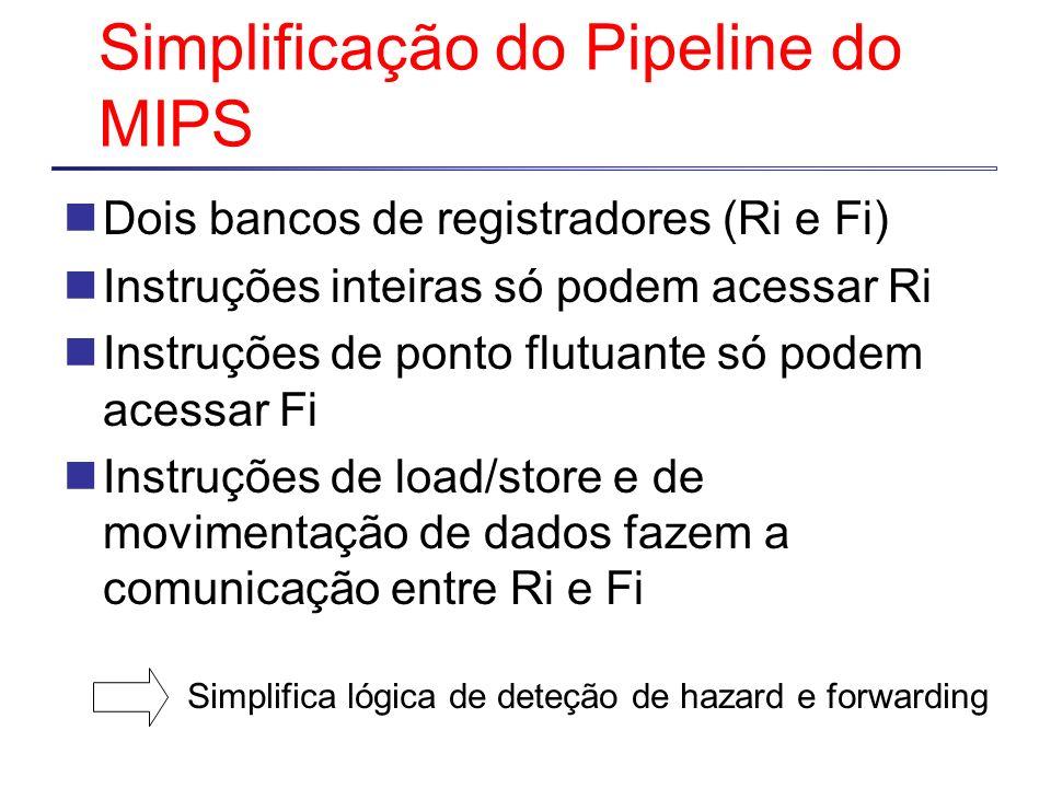 Simplificação do Pipeline do MIPS