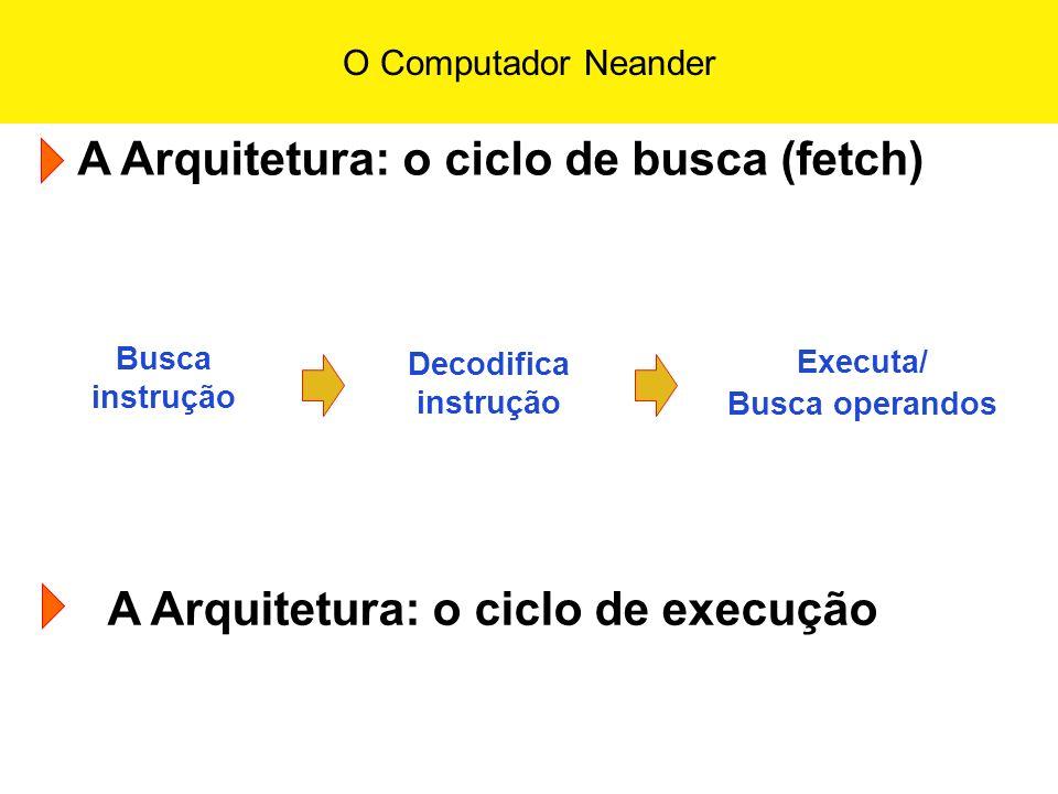 A Arquitetura: o ciclo de busca (fetch)