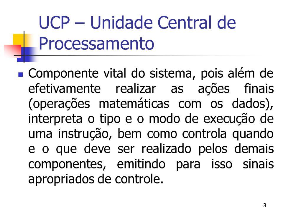 UCP – Unidade Central de Processamento