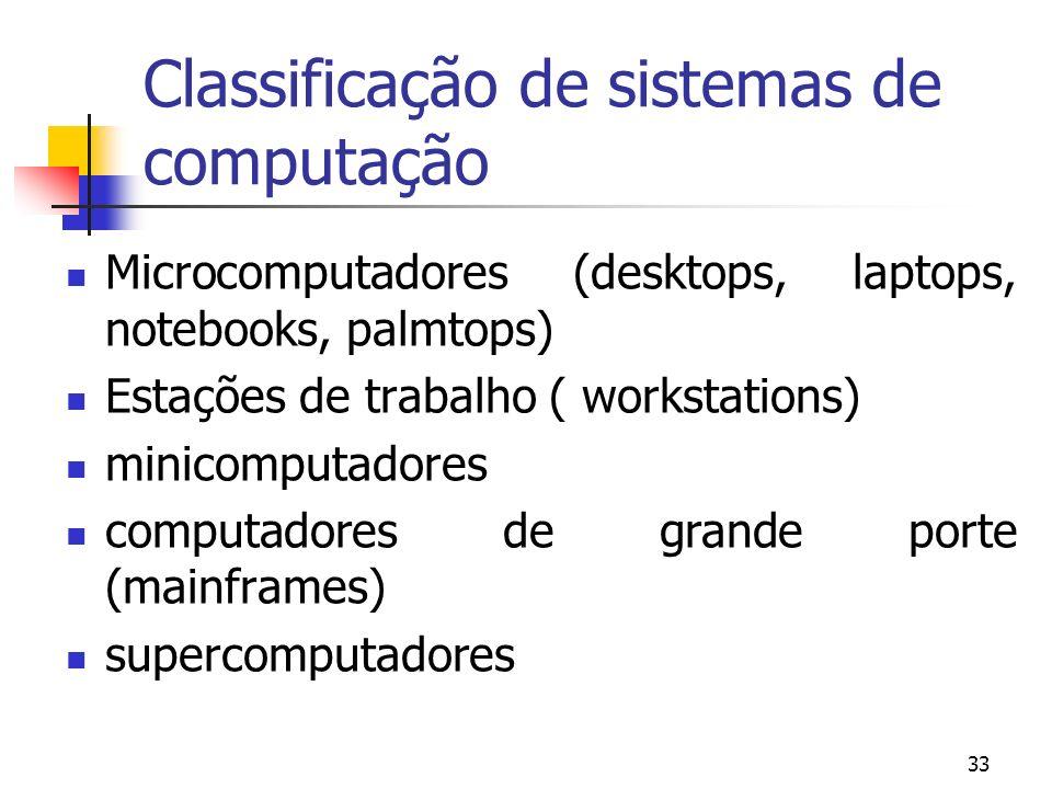 Classificação de sistemas de computação