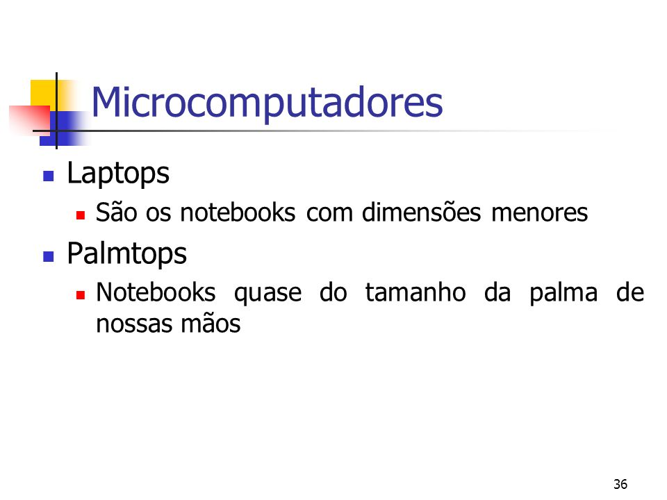 Microcomputadores Laptops Palmtops