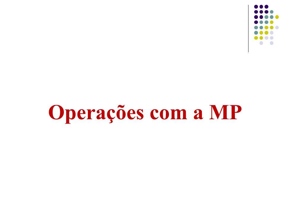 Operações com a MP