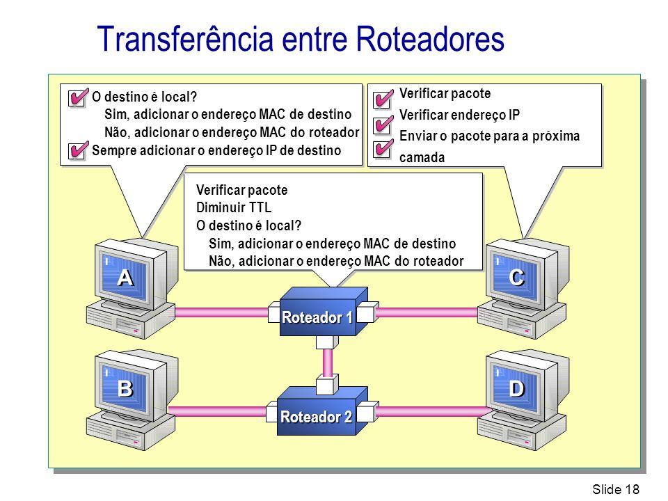 Transferência entre Roteadores
