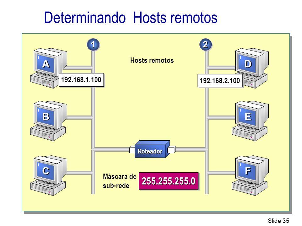 Determinando Hosts remotos