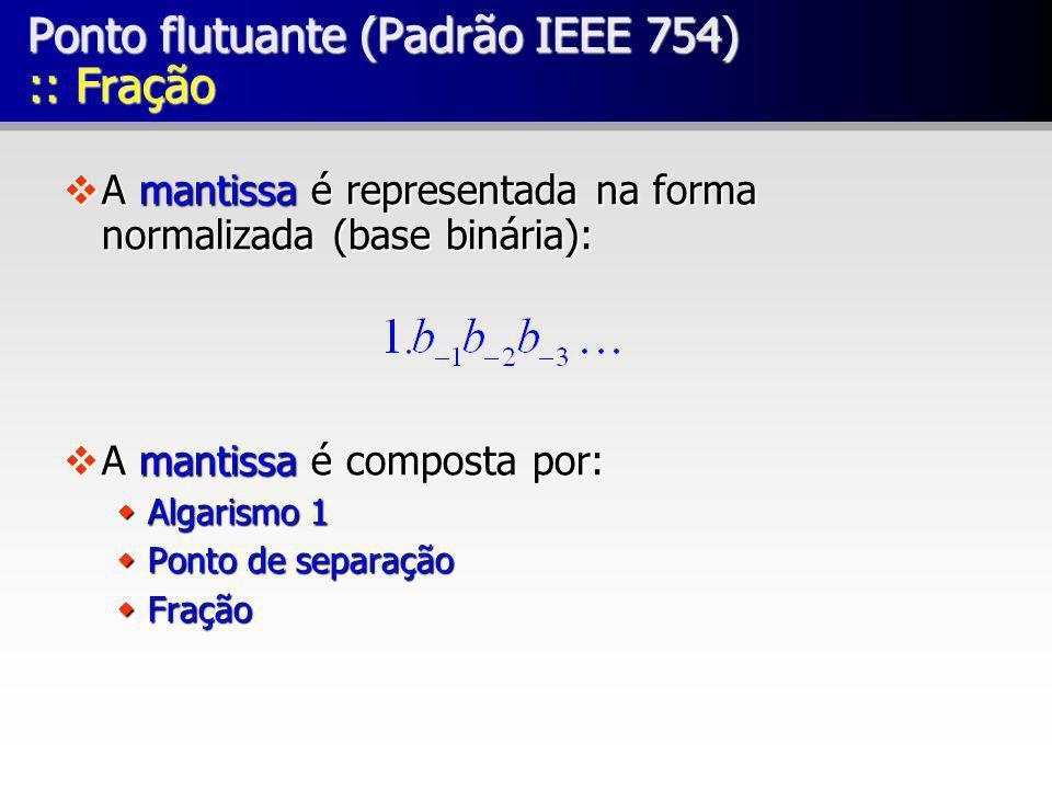 Ponto flutuante (Padrão IEEE 754) :: Fração